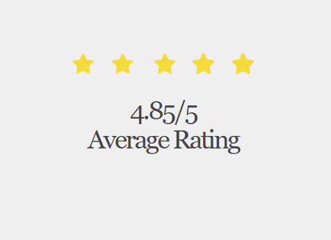 4.85 star rating