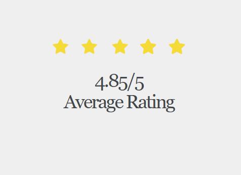4.85 star rating